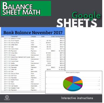 Google Sheets - Balance Sheet Lesson
