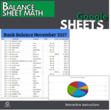 Google Sheets - Balance Sheet Lesson (Distance Learning)