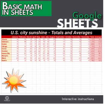 Google Sheets - Basic Math using SUM and Average