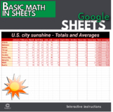 Google Sheets - Basic Math using SUM and Average