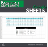 Google Sheets - Basketball Stats Math Actvity