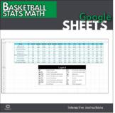 Google Sheets - Basketball Stats Math Activity (Distance L