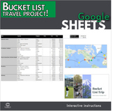 Google Sheets - Bucket List Project (Distance Learning)