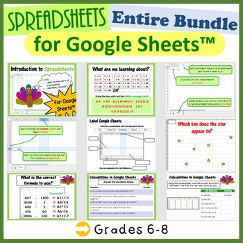 Google Sheets Bundle - The Entire First Lesson Plans Bundle