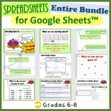 The Entire First Lesson Plans Bundle for Google Sheets™ (Grades 3-5)