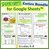 Grades 6-8 Lesson Plans for Google Sheets™