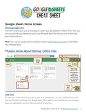 Google Sheets Cheat Sheet for Teachers and Students