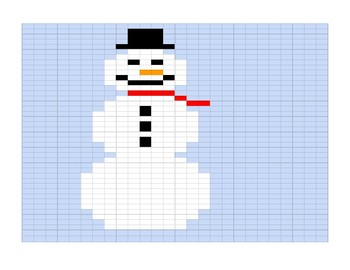 Google Sheets Christmas Fill In #3 - Snowman