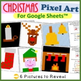 Christmas Mystery Pictures Fill Color 2 Activities Google Sheets™ (Pixel Art)