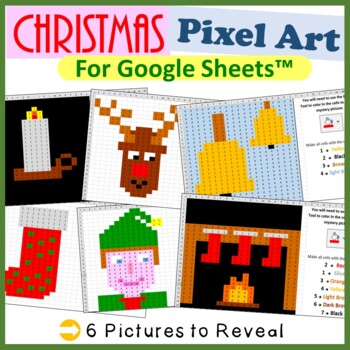Google Sheets Christmas Mystery Pictures Fill Color 2 - Co