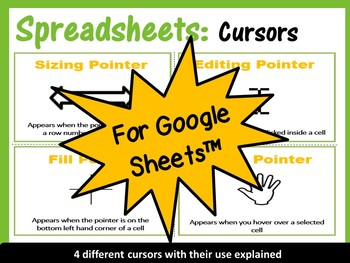Different Spreadsheets Cursors - for Google Sheets™