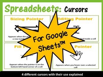 Google Drive Sheets - Different Cursors