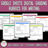Google Sheets Digital Editable Rubrics for Grading Middle