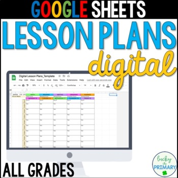 Google Sheets Digital Lesson Plans