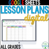 Google Sheets Digital Lesson Plans