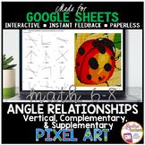 Digital Pixel Art Math Complementary Supplementary and Ver