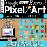 Google Sheets Digital Pixel Art Magic QUICK Reveal SWEETS