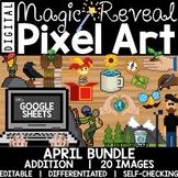 Google Sheets Digital Pixel Art Magic Reveal APRIL BUNDLE: ADDITION