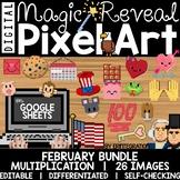 Google Sheets Digital Pixel Art Magic Reveal FEBRUARY BUND