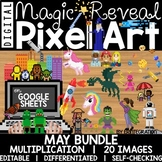 Google Sheets Digital Pixel Art Magic Reveal MAY BUNDLE: M