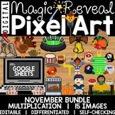 Google Sheets Digital Pixel Art Magic Reveal NOVEMBER BUND