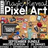 Google Sheets Digital Pixel Art Magic Reveal SEPTEMBER BUN