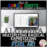 Google Sheets Digital Pixel Art Math Multiplying Radicals
