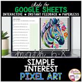 Google Sheets Digital Pixel Art Math Simple Interest