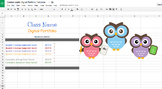 Google Sheets Digital Student Portfolio