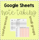 Google Sheets: Editable Digital Note Taking for Conference
