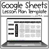 Google Sheets Editable Lesson Plan Template