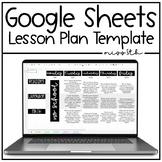 Google Sheets Editable Lesson Plan Template