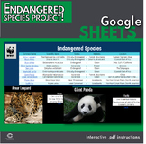 Google Sheets - Endangered Species Project (Distance Learning)
