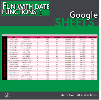 Google Sheets - Fun with Date functions