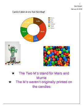 Google Sheets & Google Docs Practice: Candy Pie Chart/Bar Graph Activity