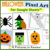 Halloween Mystery Pictures Fill Color Activity for Google Sheets™