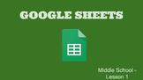 Google Sheets - Lesson 1