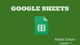 Google Sheets - Lesson 1