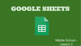 Google Sheets - Lesson 2