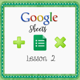 Introduction to Google Sheets - Lesson 2 Using Sum Functio