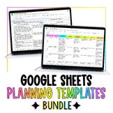 Google Sheets Lesson Planning Template Bundle