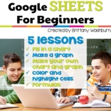 Google Sheets Lessons for Beginners Distance Learning