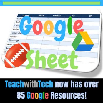 Google Sheets NFL Activity Football