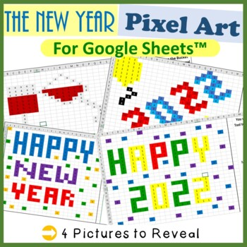 Google Sheets New Years Day Mystery Pictures Fill Color -