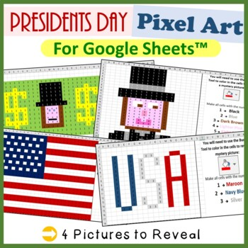 Google Sheets Presidents Day Mystery Pictures Fill Color - Computer Lab