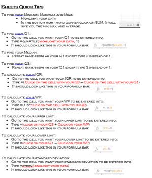 Google Sheets Quick Tips