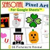 Seasonal Pictures Fill Color Bundle for Google Sheets™ (Pixel Art)