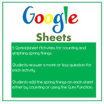 Google Sheets Spring Math & Vocabulary Activities