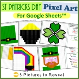 St Patrick's Day Mystery Pictures Fill Color for Google Sheets™ (Pixel Art)