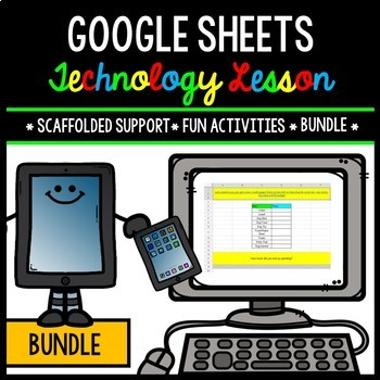 Google Sheets - Technology - Special Education - Practice Activities - BUNDLE